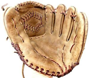 VINTAGE TED WILLIAMS SIGNATURE BRAND LEATHER BASEBALL GLOVE 16178 FREE SHIPPING