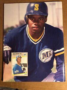 Kevin Mitchell, Beckett Baseball Card Monthly, August 1989, Ken Griffey Jr Back