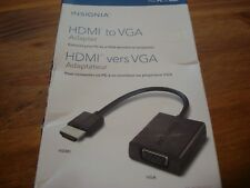 Insignia HDMI to VGA Adapter With USB Power Port PC or MAC  # NS-PG95503-C