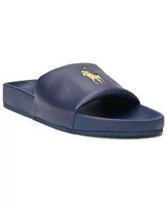 Polo Ralph Lauren Cayson Men's Slides- Blue - USA Sz 12- New