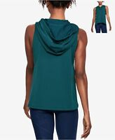 Under Armour Womens Terry Hoodie Vest Teal Size Small - $50 - NWT