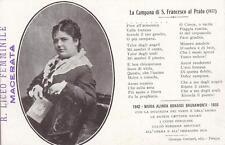 C436) MARIA ALINDA BONACCI BRUNAMONTI DA PERUGIA, POETA. 10° ANNIVERSARIO MORTE.