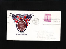 WWII Patriotic MacArthur of Philippines WV Eagle Flags 1942 FDC Cover ß