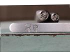 SUPPLY GUY 6mm/8mm Skull Head Metal Punch Design 2 Stamp Set SGCH-440441