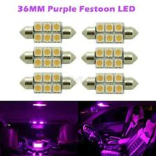 6 x Car Dome 5050 SMD LED Bulb Light Interior Festoon led 36MM Purple