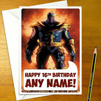 THANOS Personalised Birthday Card - marvel personalized the avengers guardians