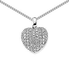 Collane e pendagli di bigiotteria in argento con cuore in rodio