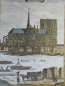 Notre Dame Cathedral Paris Seine River Kingdom of France 1719 Mallet view