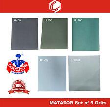 Deal 1 - Matador Waterproof Sander Paper Grits : P400/500/1200/1500/2000