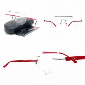 Authentic Ray Ban LightRay RX8749 1192 54mm Titanium Gunmetal w/Demo Eyeglasses