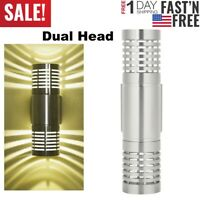 LED Modern Exterior Wall Light Sconce Dual Head Wall Lamp Up Down Fixture Porch