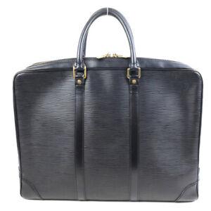 LOUIS VUITTON Business Bag Briefcase Epi Porto Documan Voyage M59162 Noir M59162