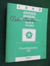 1989 Dodge/Plymouth Spirit & Acclaim Factory Service Manual: Turbo Included