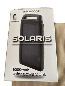 BoomPods Solaris Solar 10000mAh Powerbank Dark Grey