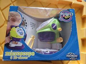 3D VIEW-MASTER DISCOVERY KIDS Microscope Viewmaster Viewer Box Set Rare New