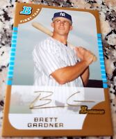 BRETT GARDNER 2005 Bowman GOLD SP Rookie Card RC Yankees WS Ring $ GRAND SLAM $