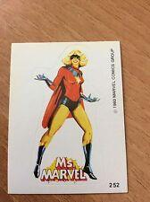 MISS MARVEL ADESIVO #252 Terrabusi 1980 Marvel Superheroes Sticker figurina