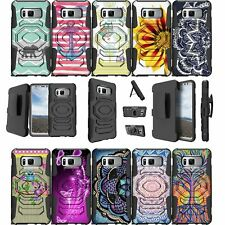 For Samsung Galaxy Note 8 SM-N950 Kickstand and Holster Combo Cover