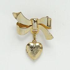 American Girl Classic Samantha Gold Brooch Heart Locket Pin Meet Accessory Ret