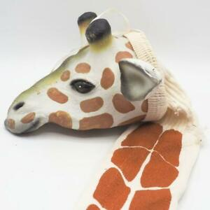 Cloth & Rubber Giraffe Hand Painted Wall Hanging