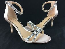 Badgley Mischka Jewel Caroline Champagne Satin Evening Sandal Size 8 B1850