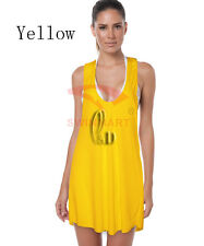 Casual Womens Coloured Beachwear Summer Dress Bikini Cover Up  AU SELLER sw034