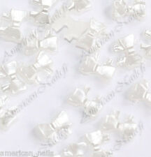 25 Bijoux pour Ongles Strass Nail Art GRAND NOEUD Perlés 4mmx7mm