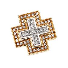 Religiöse Halsketten und Anhänger aus mehrfarbigem Gold mit Diamanten