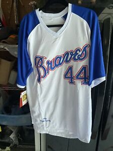 NWT Hank Aaron XL Home 1974 Atlanta Braves Cooperstown Collection Jersey