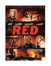 RED NEW BLU RAY DISC MOVIE FILM ACTION CIA DC COMICS BRUCE WILLIS MORGAN FREEMAN