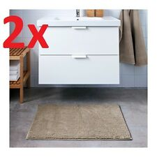 2x IKEA TOFTBO Anti-Slip Microfibre Bath Mat Bathmat Bathroom Rug 40x60cm Beige
