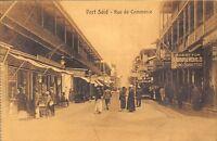 POSTCARD    EGYPT  PORT  SAID   Rue  De  Commerce