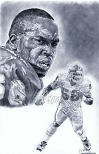 Derrick Thomas Kansas City Chiefs sketch poster ART