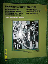 BMW 2000 & 2002 AUTOBOOK WORKSHOP MANUAL Models: TI CS TI LUX Tii & CA 1966-1976