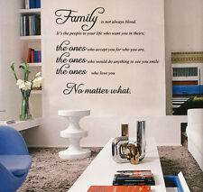 Family Home Wall Art Quotes Removable Wall Stickers Lettering Decal Mural Decor
