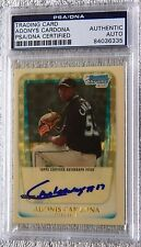 Adonys Adonis Cardona 2011 Bowman Chrome Auto Superfractor Proof PSA/DNA COA