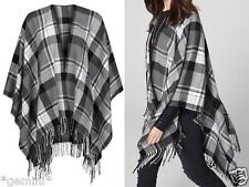 s.Oliver EXTRA LARGE Schal TUCH CAPE Poncho Karriert BLOGGER CHECKED SHAWL SCARF