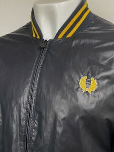 Fred Perry   Tipped Mesh Lined Bomber Jacket XL XXL (Black) Scooter 90s Casuals