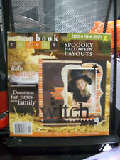 SCRAPBOOK TRENDS OCTOBER 2007 MAGAZINE SCRAPBOOKING CARDS FOR TROOPS HALLOWEEN +