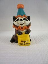 Hallmark Halloween Merry Miniature (1989) - Happy Halloween Raccoon Clown