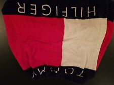 Tommy Hilfiger Terry Cloth Towel Skirt Wrap Flag Logo Spell Out 90s RARE VINTAGE