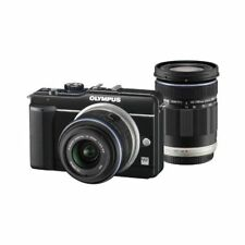 Excellent! Olympus E-PL1S 12.3MP with 14-42mm + 40-150mm Black - 1 year warranty