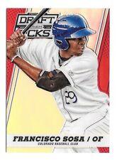 2013 Francisco Sosa Panini Prizm Draft Picks Rookie Red Refractor /100 - Rockies