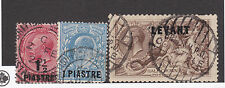 LEVANT ~1920s BPO Constantinople Postmarks on 2/6 Chocolate Seahorse etc CV£111.
