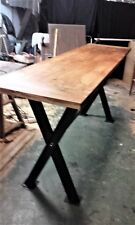 Big Table High Eat Standing Wood and Steel