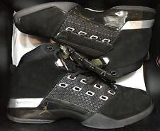 Jordan Retro XVII 17 Black Silver CDP Trophy Room Grey Sz 10.5