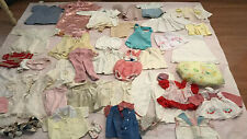 Lot 42 Vintage Baby & Doll Clothes Crafts Vtg Baby Clothes 4 Prs Shoes Free Ship