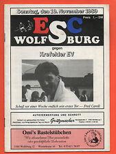 ORIG. PRG 2. LEGA NORD 89/90 ESC Wolfsburg-Krefelder EV!!! MOLTO RARO