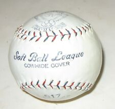 1960s Early Vintage Tober #817 Soft Ball Leagu Cowhide Cover Yarn Wound Softball