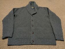 VTG POLO RUGBY RALPH LAUREN COWICHAN SWEATER CARDIGAN M MEN 90S SPORT WOOL GRAY